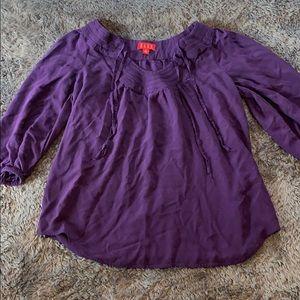 Purple Elle Blouse